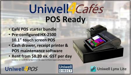 Uniwell4Cafes POS Ready bundle
