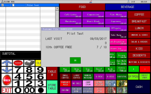 Uniwell4Cafes Coffee Card Loyalty screenshot